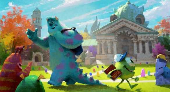 """MONSTERS UNIVERSITY""   Concept art.  ©2012 Disney/Pixar. All Rights Reserved"