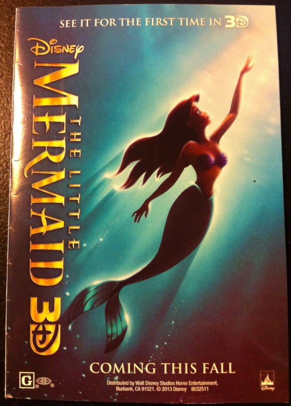 "Pamphlet included with the ""Peter Pan"" Blu-ray advertising the 3D Blu-ray"