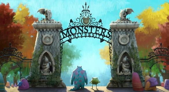 """MU Gate"" concept art by Dice Tsutsumi 2012. Courtesy of Pixar Animation Studios © 2013 Disney•Pixar.2013 Disney•Pixar."
