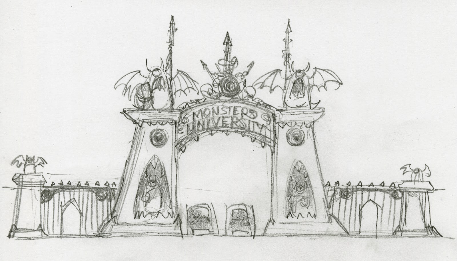 Beautiful New Concept Art Released For Pixars Monsters University Still Animation