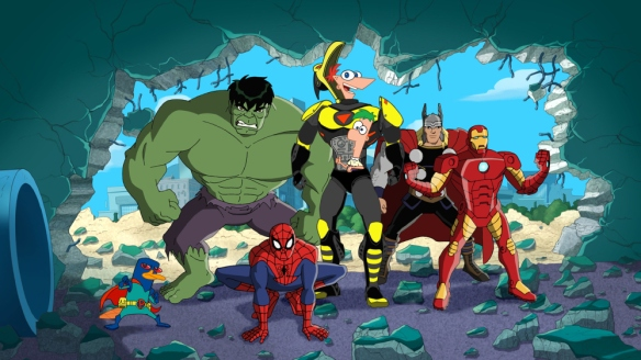 HULK, SPIDER-MAN, THE BEAK, THOR, IRON MAN