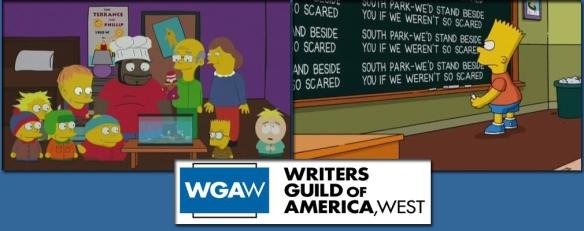 SimpsonsSouthPark WGAW