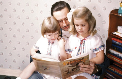 Diane Disney Miller and Walt Disney