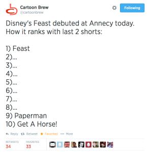 Feast Review Tweet