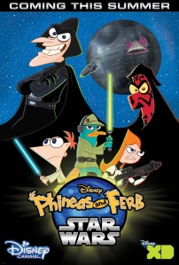 Phineas and Ferb Star Wars Poster