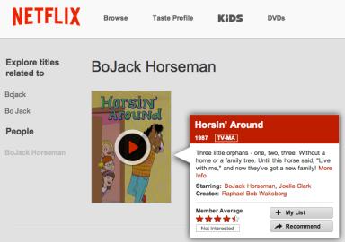 BoJack Horseman's tv series from the 90's