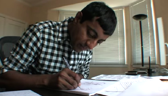 "Sanjay Patel, courtesy of KQED's ""This Week: Sanjay Patel"" video"